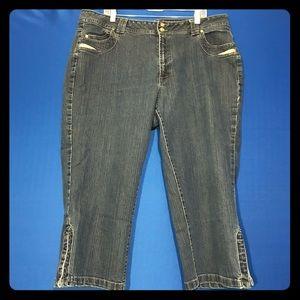 Faded Glory Woman Stretch Capri Blue Jeans